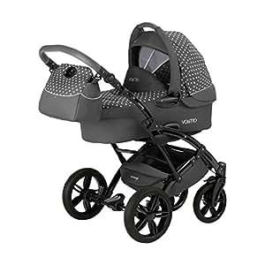 knorr-baby 33000-04 Voletto Tupfen Limited Edition, grau / weiß