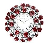Krafts Cart Red Rose Wall Clock Designer...