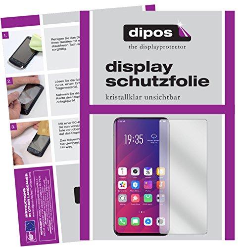 dipos I 6X Schutzfolie klar passend für Oppo Find X Folie Bildschirmschutzfolie