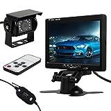 pathson Wireless Auto Rear View Kit 17,8cm LCD Monitor + 18LED IR Rückfahrkamera