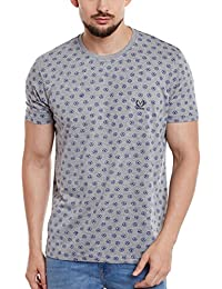 VIMAL Men's Cotton Printed Round Neck T-Shirt