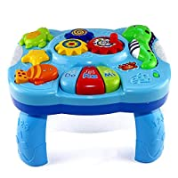 WXGY rosemaryrose Play & Learn Baby Activity Table, Baby Play Centre, Baby Activity Centres Musical Learning Table Baby Toy Educational Baby Sound Toy for Babies & Toddlers From 6 Months+ useful