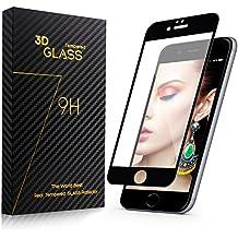 Surwell Protector de Pantalla para iPhone 6 plus / 6s plus Cobertura Completa 5.5 pulgadas, Cristal Templado, color negro