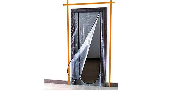 Staubschutzt/ür Folient/ür 1,2m x 2,2m Staubvorhang mit Rei/ßverschlu/ß Schmutzschleuse Baut/ür Folient/ür Vorhang Staubt/ür