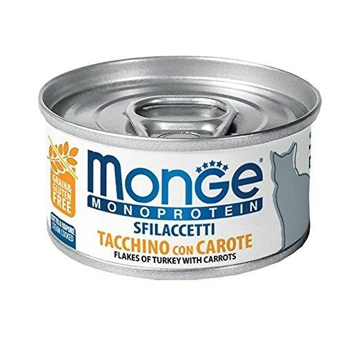 Monge Cat Sfilaccetti Monoprotein Tacchino e carote Lattina 80 gr
