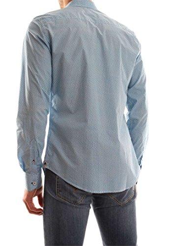 Ganesh Hommes chemise imprimé floral Bleu Bleu