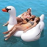 Hochwertige Pool Float Schwimmendes Bett Sommer-Pool-Partei-aufblasbare weiße Schwan-sich hin- und herbewegende Reihe, Swimmingpool-Floss-aufblasbares Spielzeug-Erwachsener u. Kind-sich hin- und herbewegender Bett-Wasser-Erholungs-Stuhl KKY-ENTER