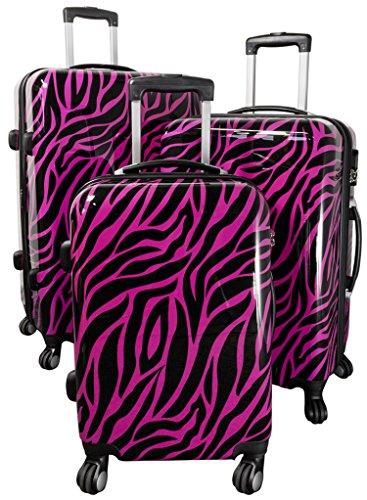 Trolley Set 3teilig Zebra Pink Kofferset 38L 3,1kg 62L 3,9kg 94L 4,9kg Gepäckset