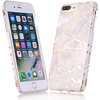 apple iphone 8 gold. iphone 7 case, 8 jiaxiufen shiny rose gold gray marble design clear apple iphone