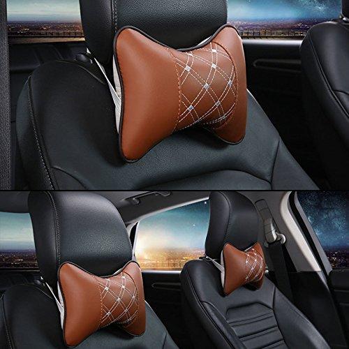 Sedeta® Car Seat Pad appuie-tête en mousse à mémoire Oreiller Voyage Head Neck Support Coussin utile oreillers de voiture pour les tout-petits oreiller de voiture retour oreiller voiture Orange siège