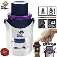 Preserve The Fun - The Bar Amigos Champagne Pressure Stopper patented pump system preserves the taste and favour of your favourite bottle of sparkling wine. You no longer have to pour that expensive bottle of bubbly down the sink. Simple to use and e...