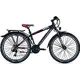 Morrison 26 Jugendrad Mescalero S26 Schwarz Rot 24-Gang mit Nabendynamo, Rahmenhöhen:43, Farben:Black/Red/White-Matt