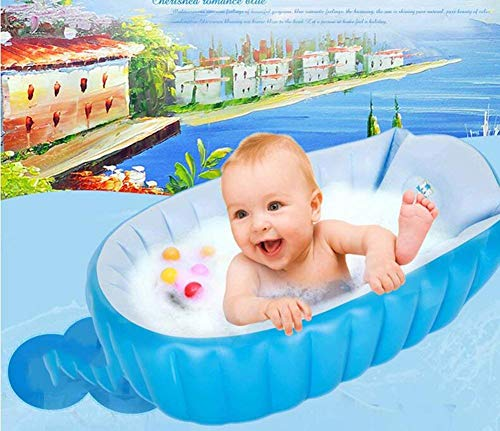 Badewanne, Pools Baby-Schlauchboot, Kinder Anti-slippvery Swimming-Pool, faltbarer Spielraum Air Dusche Waschbecken Sitz, Mini Air Swimming Pool + Luftpumpe -, Badewanne