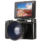 131/5000 Digitalkamera 1080p Full-HD-Camcorder Besteker 24,0MP Videokamera LCD 3,0 Zoll mit Makro-Objektiv und Blitzlicht