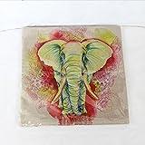 Sábanas De Algodón De Impresión Elefante Indio Tiro Funda De Almohada Colchón Cubierta Decoración