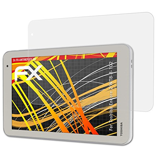 atFolix Schutzfolie kompatibel mit Toshiba Encore 2 WT8-B-102 Bildschirmschutzfolie, HD-Entspiegelung FX Folie (2X)