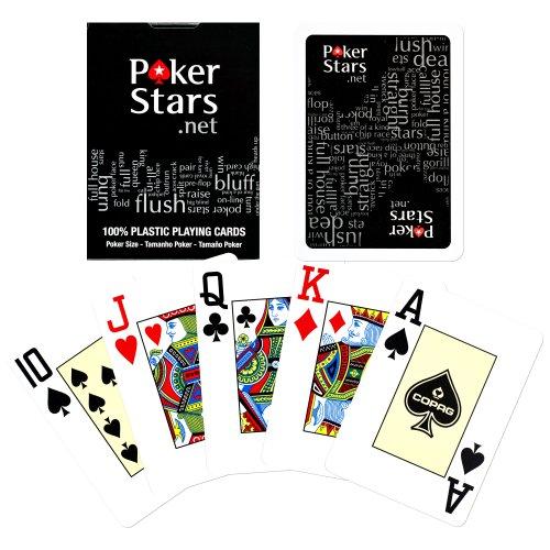 Copag PokerStars Poker Size Jumbo Index Plastic Playing Cards (Black/Red)