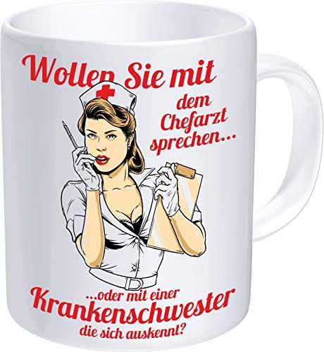 RAHMENLOS Kaffeetasse für Krankenschwestern: Wollen Sie mit dem Chefarzt sprechen?