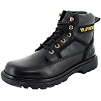 Caterpillar Stickshift Mens Leather Material Safety Boots Black