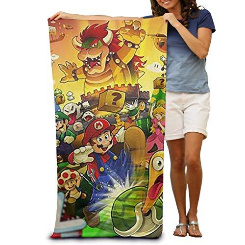 FSTGF LBZYJ Strandtücher aus Baumwolle mit Super Mario Strandtüchern Decke, 79 x 130 cm