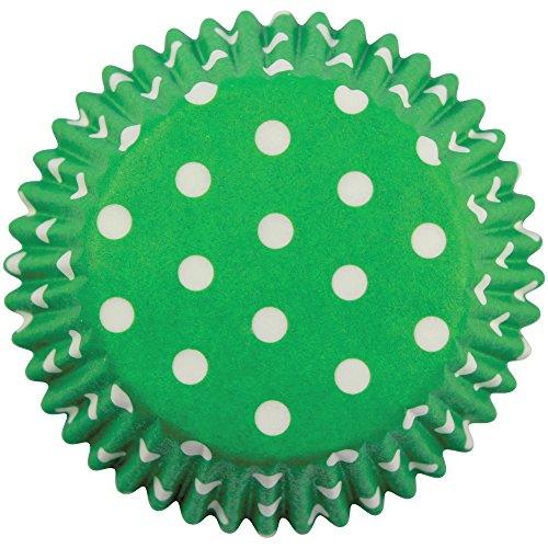 PME Backförmchen für Cupcakes aus Papier mit grünen Tupfen, Standardgröße, 60er Pack, Kunststoff, 7 x 7 x 2.8 cm, 60-Einheiten