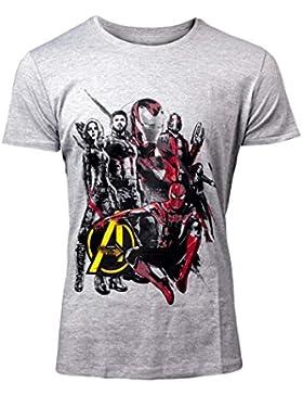 Avengers: Infinity War -Part 1 T-Shirt Avengers Character Men'S T-Shirt Grey-S