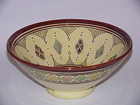 Marokkanische Orientalische Keramik Geschirr Schüssel Schale Obst Salat Müsli Ø 30 cm