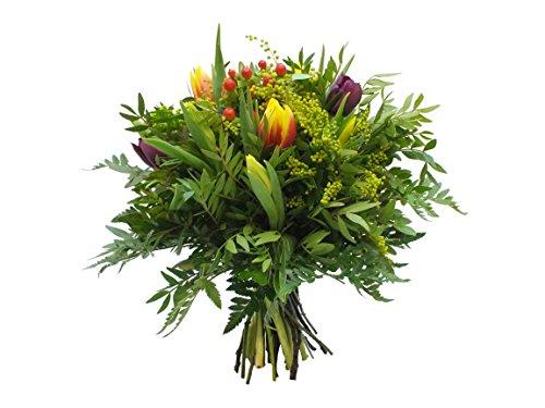 """""""Sommerhit"""" inkl Glückwunschkarte Ø 40cm Sie erhalten bei uns einen wunderschönen Blumenstrauß zu einem unschlagbaren Preis, in dem 10 Sonnenblumen und reichlich Blattgrün verarbeitet sind. Außerdem fügen wir jedem Blumenstrauß kostenlos Frischhaltem..."""