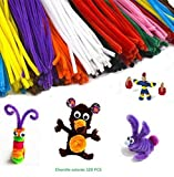 Pack ahorro de limpiapipas de 30 cm en 10 colores variados para manualidades infantiles 120pcs EMI...