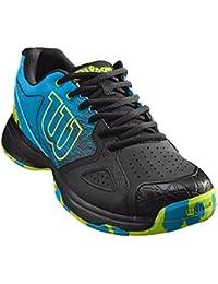 Wilson Homme Chaussures de Tennis, Idéal pour les joueurs offensifs, Pour tout type de terrain, KAOS DEVO, Tissu Synthétique