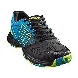 Wilson KAOS DEVO, Zapatillas de tenis hombre, ataque, multiterreno, tejido/sintético, azul claro /negro (Hawaiian Surf/Black/Lime Punch), talla: 44