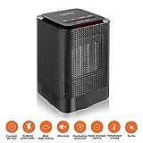 LESHP DH-QN02 - Calefactor Mini Portátil Moderno (2017), 1000W Bajo Consumo 3 Ajustes Estufa - NEGRO