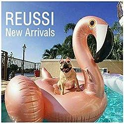 """Flamingo de oro rosado inflable, anillo de la natación, soplo de la piscina de la tumbona de Sun Balsa del flotador de la cama de aire de la playa con las válvulas rápidas 150 * 150 * 86cm -flamenco """"150cm"""