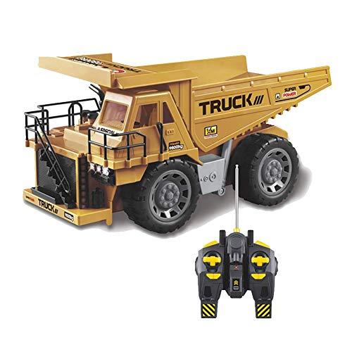 AKLUH Fully Functional Remote Control Truck,Function High Dumper Truck,1: 8 Fernbedienung Kipper Simulation Baufahrzeug Aufladbar Spielzeuggeschenk Für Kinder,Mit Lichteffekten