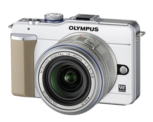 Cheap Olympus E-PL1 Compact System Camera – White (14-42mm Silver Lens Kit)