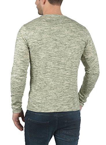 BLEND Xylon Herren Strickpullover Rundhalskragen aus 100% Baumwolle Meliert Dusty Green (70595)