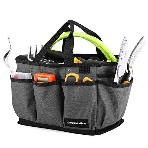 99c19fd243 Housolution Gardening Tote Bag, Deluxe Garden Tool Storage Bag and Home  Organizer with Pockets,