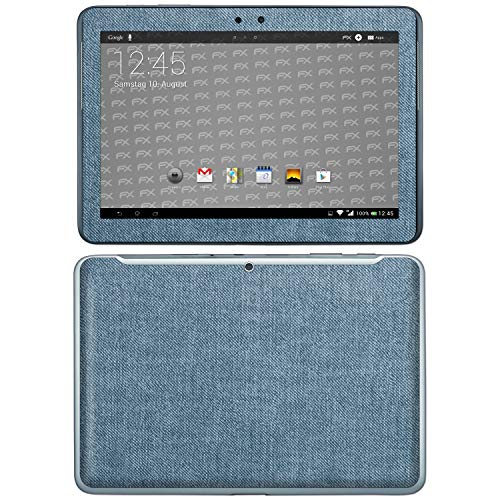 bel mit Samsung Galaxy Tab 2 10.1, Designfolie Sticker (FX-Denim-Blue), Jeans-Stoff Optik ()