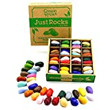 Crayon Rocks - Ungiftige kinder Wachsmalstifte mit Motor stimulierende wirkung - 64 lang anhaltende Multicolor Buntstifte in einer kraftpapier box - 32 Farben - zum Zeichnen auf Papier und Stoff - Just Rocks