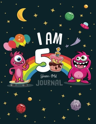 I Am 5 years old Journal: Cute Monsters Journal/Notebook Happy Birthday for Boys(Draw & Write/Diary)