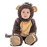 Janly Baby Halloween Tier Kostüm Hooded Bodysuit Footies Spielanzug Onesie Outfit (Größe: 66CM, Affe)