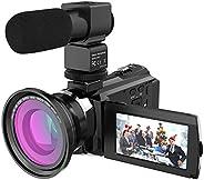 كاميرا فيديو رقمية بدقة 4 كيه 1080 بكسل 48 ميجابكسل مع اتصال واي فاي من اندوير، عدسة ماكرو عريضة الزاوية 0.39×