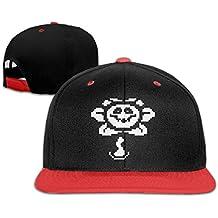 Hittings Sunny Fish6hh Unisex Adjustable Undertale Flowey HipHop Baseball Caps Hat For Kids Teenager Red