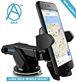 #5: Able Long Neck One Tuch Car Mount Mobile Holder (Black)
