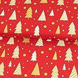 Stoffe Werning Baumwollstoff Weihnachten Glitzer