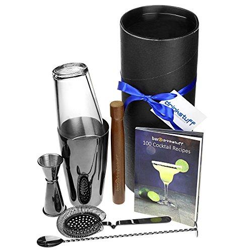 GUN Metall Boston Cocktail Shaker Set–Cocktail Making-Kit, Cocktail Starter-Pack