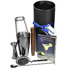 Pistola Metal Boston Cocktail Shaker Set–Cóctel haciendo kit, cóctel starter pack