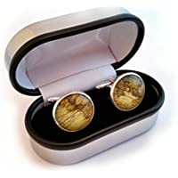World/Earth Cufflinks and Cuff link presentation box