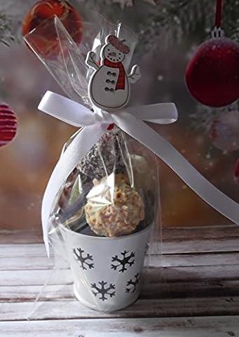 Mini Snowflake Pail with 8 Chocolates - Christmas Gift/Favour/Secret