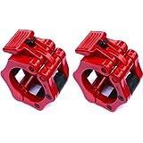 EMVANV Weightlifting Barbell clamp Collar crossfit fitness manubri palestra rapida 50mm nylon bilanciere serrature allenamento fitness esercizio accessori, red